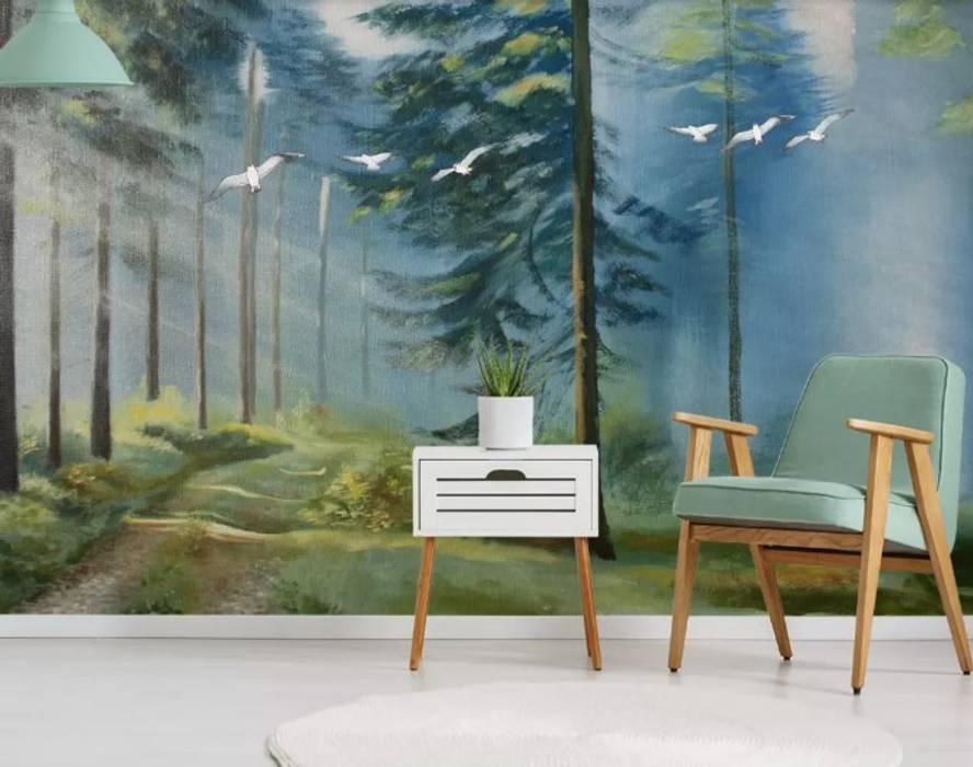 SK Concept Duvar Kağıtları  – Colorful Forest:  tarz Duvarlar
