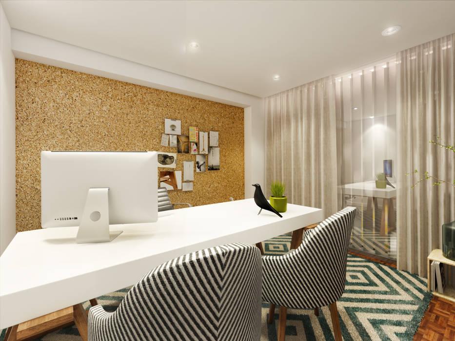 Escritório: Escritórios e Espaços de trabalho  por MIA arquitetos,Moderno MDF
