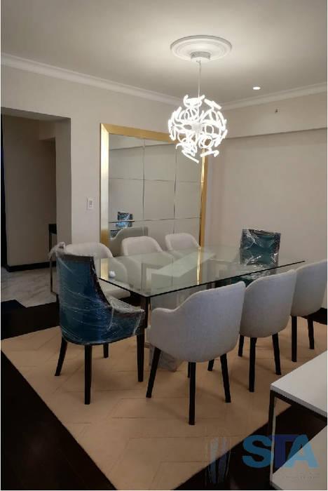 Modern dining room by Soluciones Técnicas y de Arquitectura Modern Aluminium/Zinc
