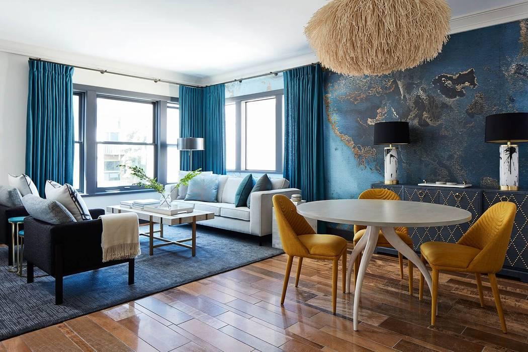 Designer Phòng khách phong cách Địa Trung Hải bởi xuongmocso1 Địa Trung Hải