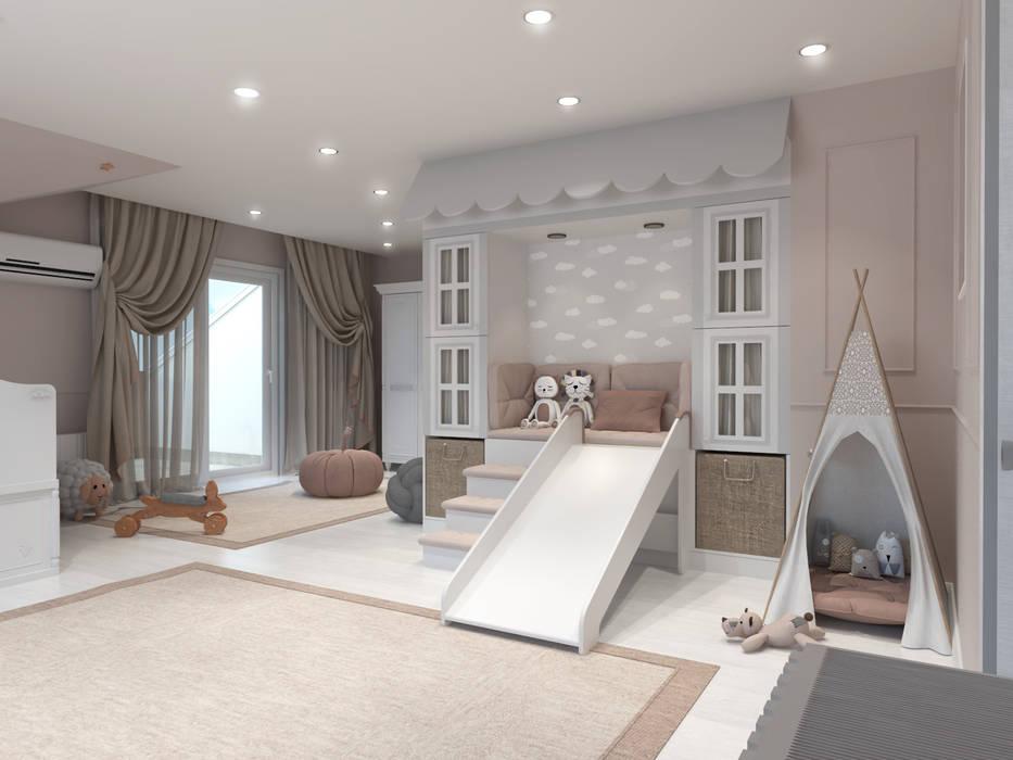 Dormitorios de bebé de estilo  por Antler İç Mimarlık,
