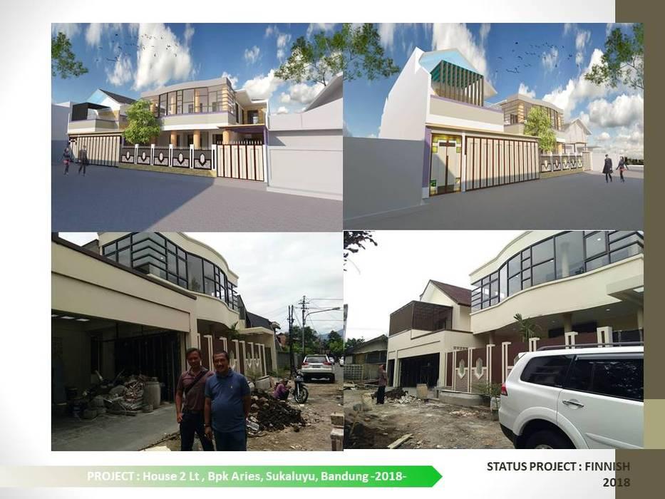 FASADE BANGUNAN Dinding & Lantai Modern Oleh ARCHDESIGNBUILD7 Modern