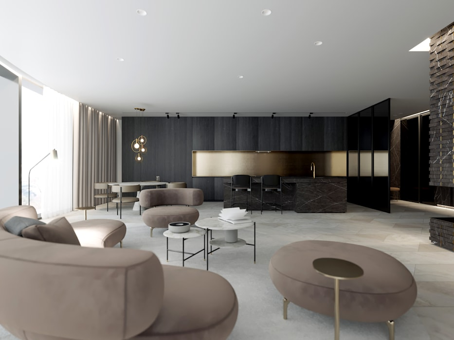 Living room by Suiten7, Minimalist Marble