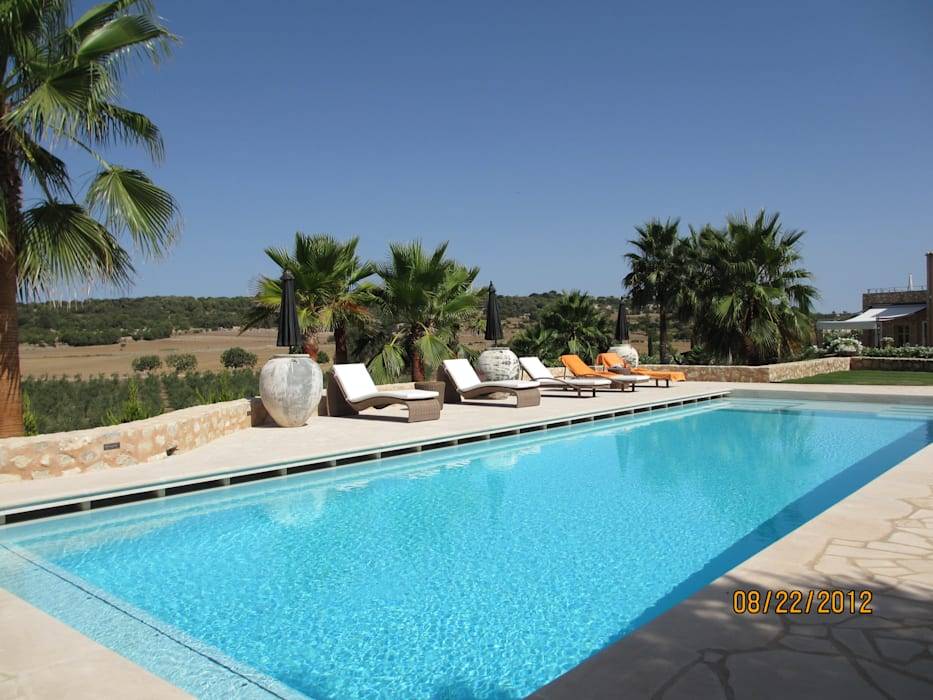 Son Naava, Majorca:  Pool by 4D Studio Architects and Interior Designers,