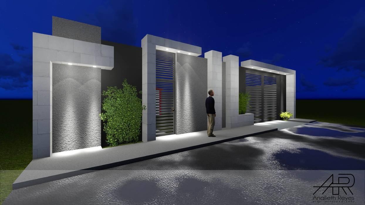 VISTA LATERAL : Paredes de estilo  por Analieth Reyes - Arquitectura y Diseño,