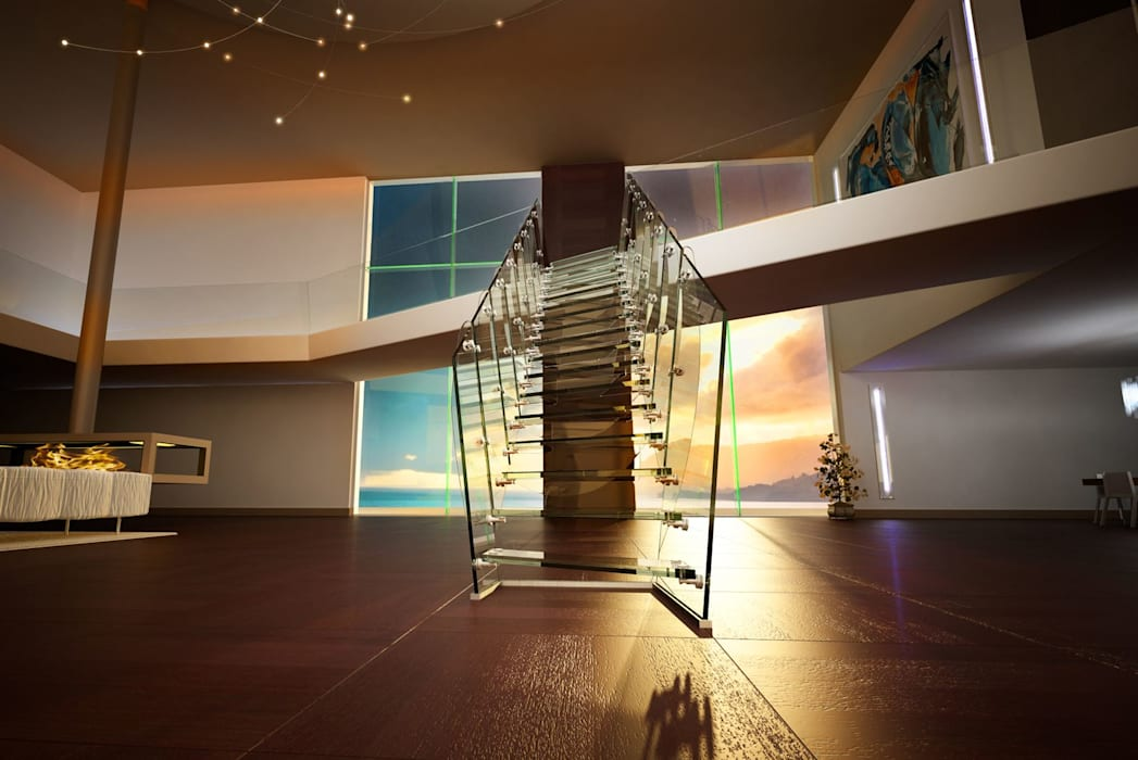 Rio by Siller Treppen/Stairs/Scale Modern Glass