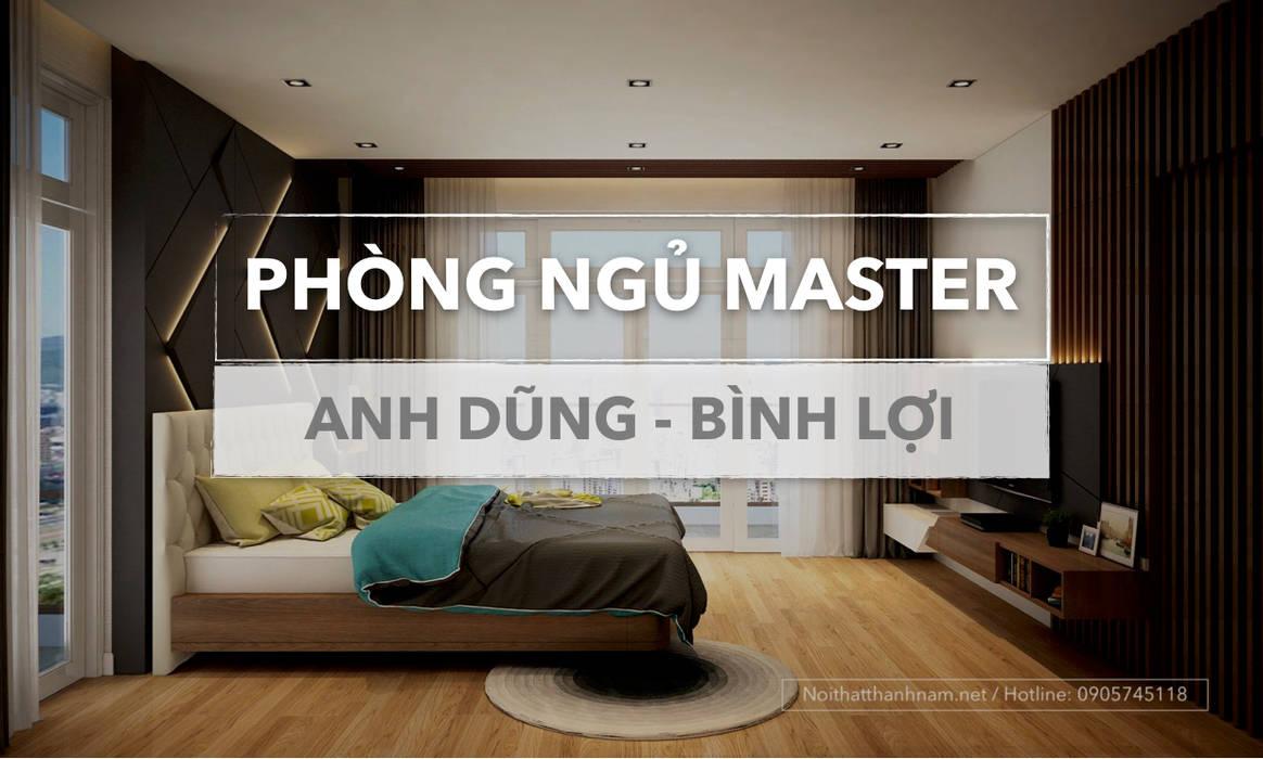 thiết kế phòng ngủ hiện đại:  Phòng ngủ by Nội thất Thành Nam