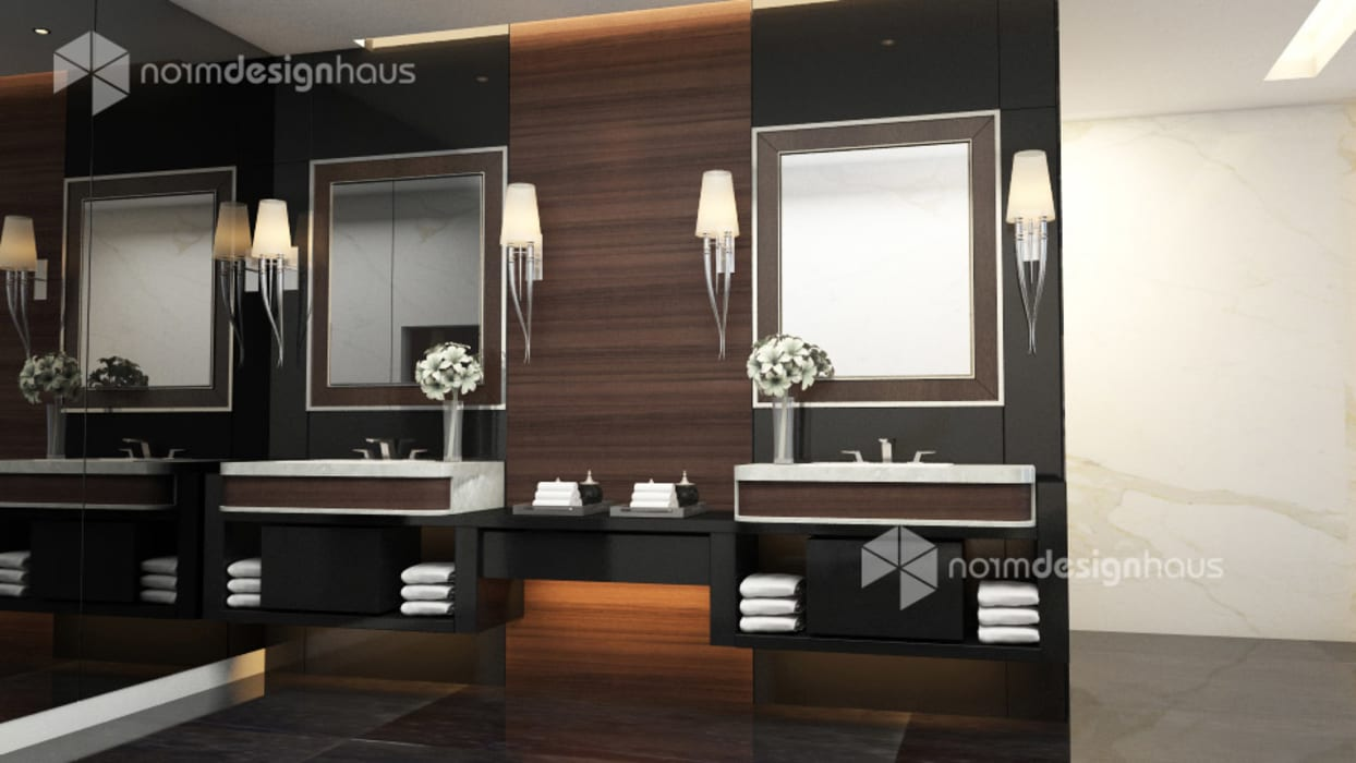 bathroom design, interior design malaysia:  Bathroom by Norm designhaus