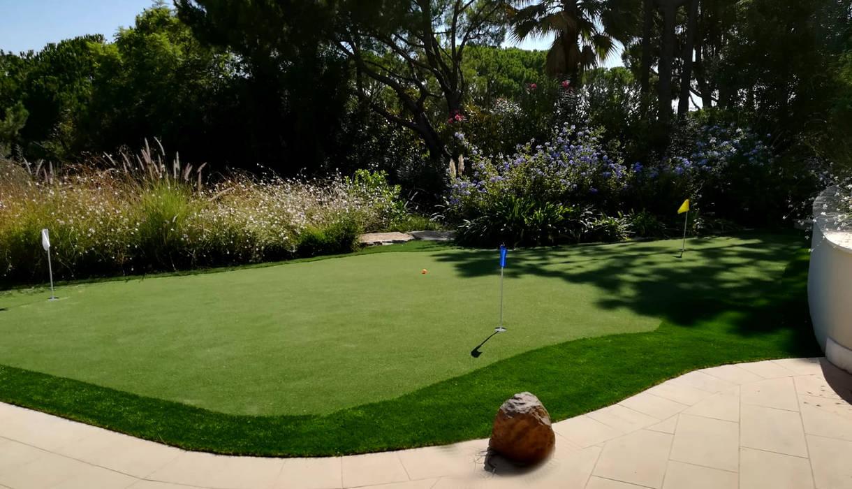 Relvado artifícial Pedigree Group Jardins de fachada Plástico Verde
