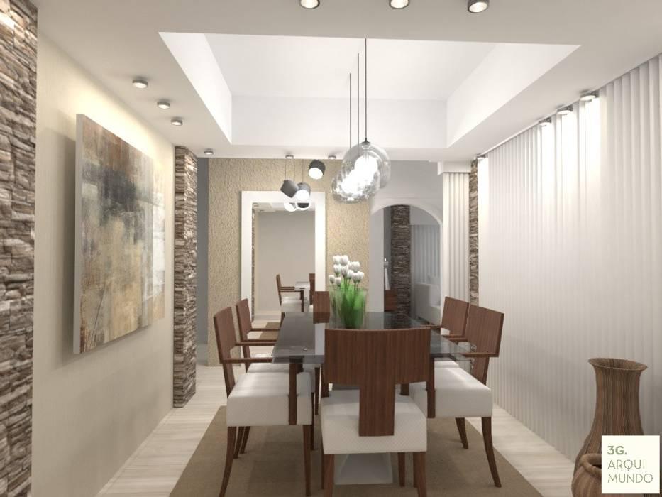 Comedor: Comedores de estilo  por Arquimundo 3g - Diseño de Interiores - Ciudad de Buenos Aires