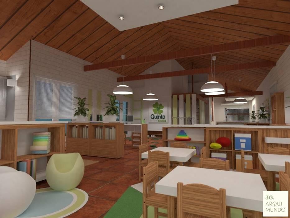 Sala niños pequeños : Escuelas de estilo  por Arquimundo 3g - Diseño de Interiores - Ciudad de Buenos Aires