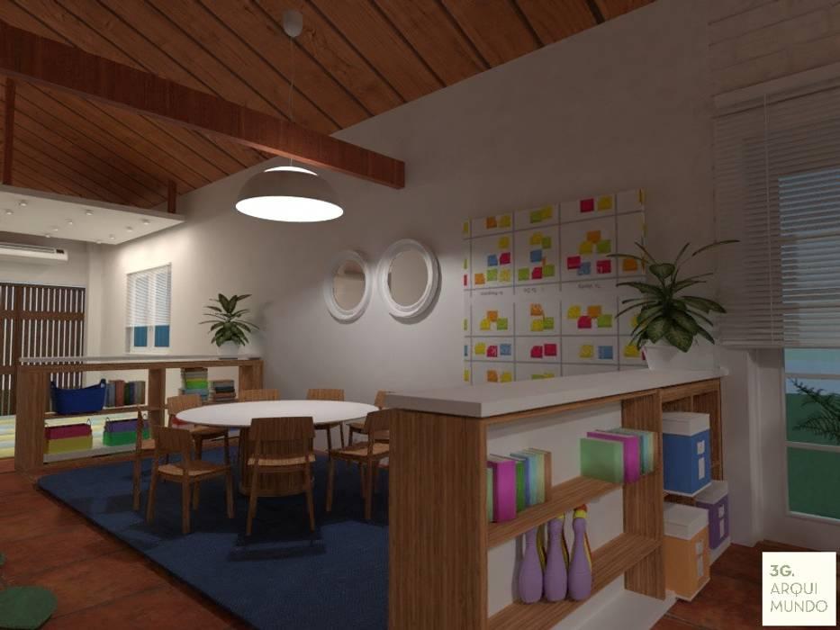 Sala niños mayores: Escuelas de estilo  por Arquimundo 3g - Diseño de Interiores - Ciudad de Buenos Aires
