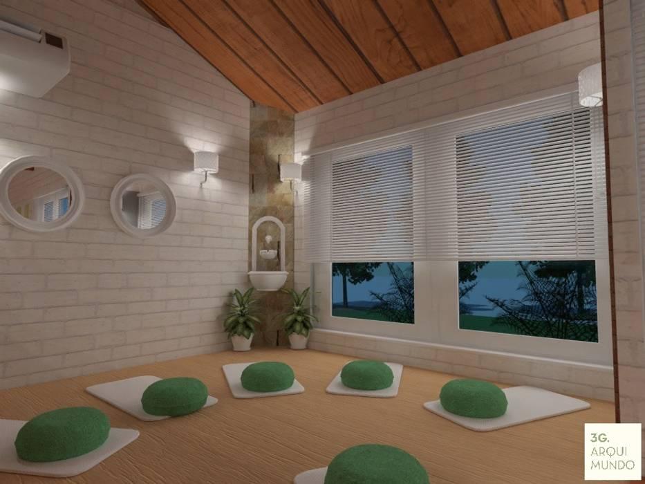 Sala de meditación: Escuelas de estilo  por Arquimundo 3g - Diseño de Interiores - Ciudad de Buenos Aires