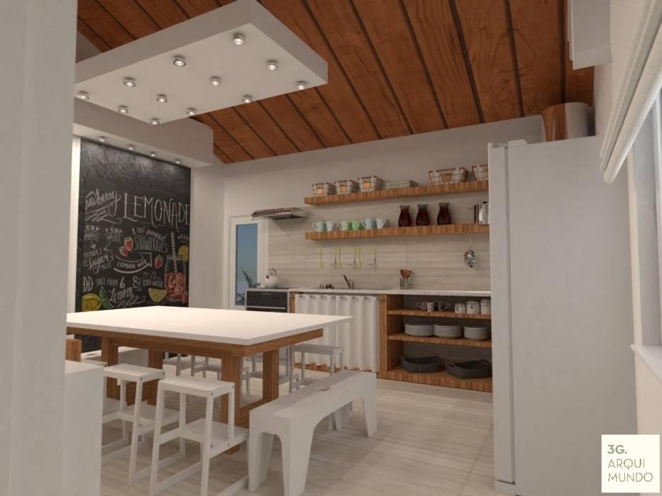 Scandinavian style schools by Arquimundo 3g - Diseño de Interiores - Ciudad de Buenos Aires Scandinavian