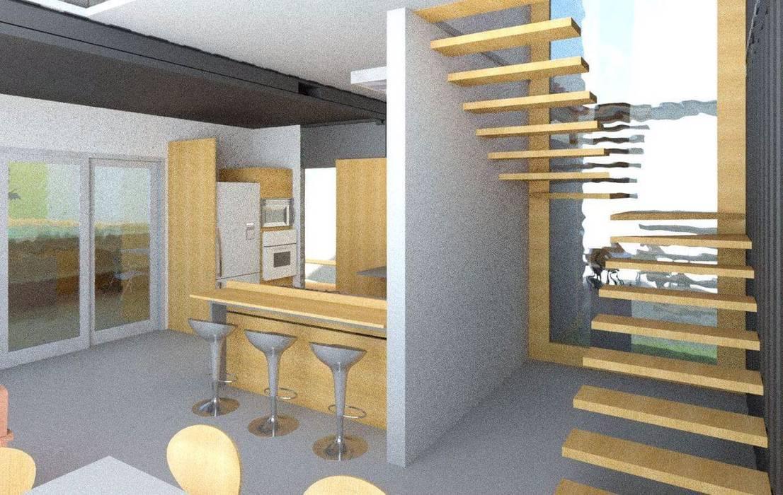 Oria Arquitetura & Construções Kitchen units Wood