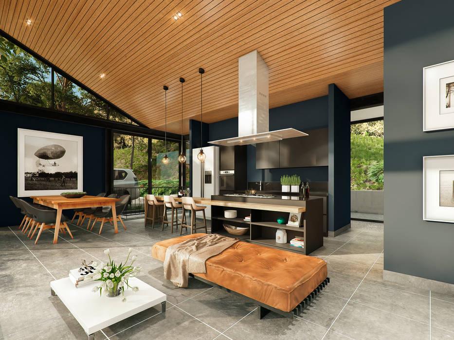 Casa J_p: Casas de estilo  por @tresarquitectos, Industrial