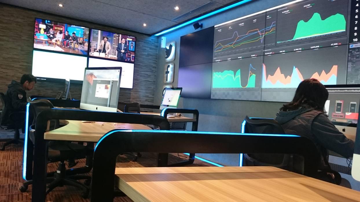NET TV Media Command Studio & Pantry: Gedung perkantoran oleh Equator.Architect, Modern