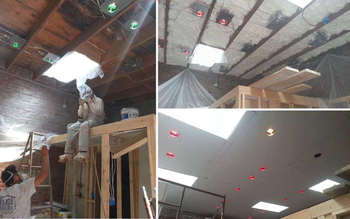 Vip Dekorasyon – Tavan Elektrik Tesisatı ve Aydınlatmaların Ayarlanması:  tarz Düz çatı