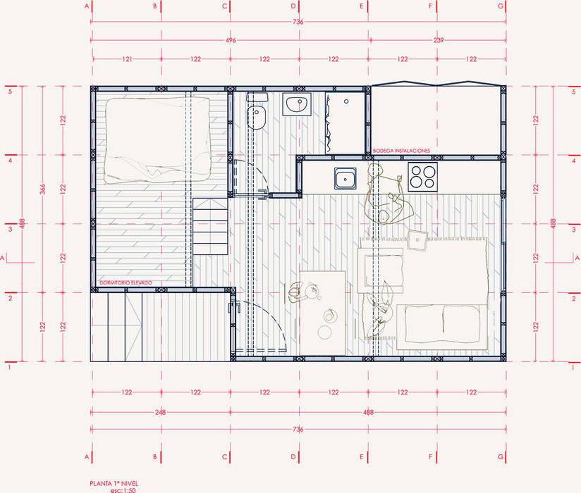 Casas ecológicas de estilo  por UNOAUNO arquitectura sustentable