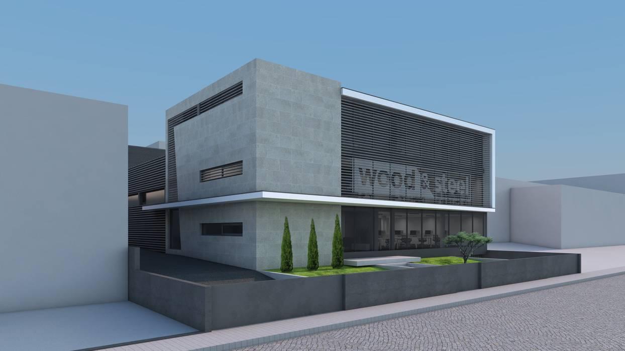 WOOD&STEEL: Escritórios e Espaços de trabalho  por Miguel Zarcos Palma,Industrial