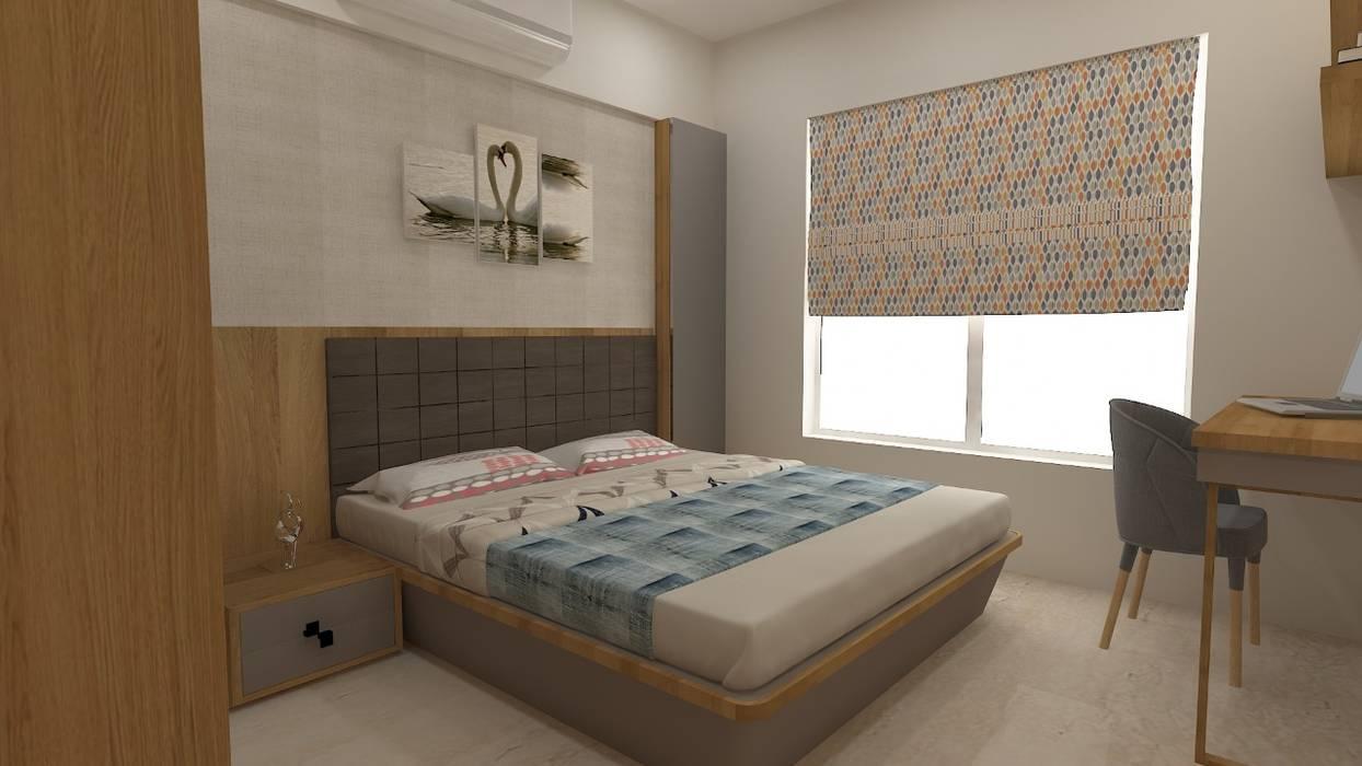 Mrs. Janvi Nagrani:  Bedroom by DesignTechSolutions