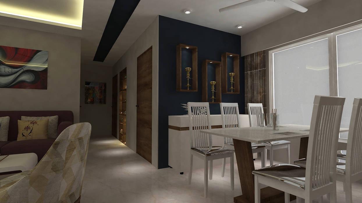 Mrs. Janvi Nagrani:  Living room by DesignTechSolutions