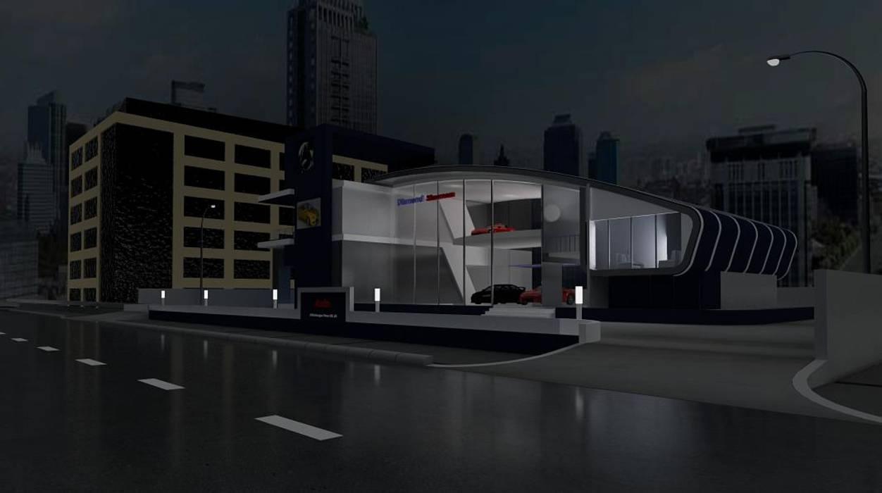 Car showroom Dealer Mobil Modern Oleh Adhicitta Karya Megah Modern Besi/Baja