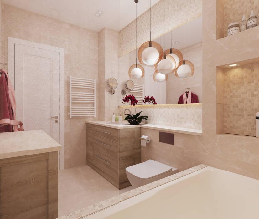 Квартира в ЖК «Бульварный переулок»: Ванные комнаты в . Автор – ReDi