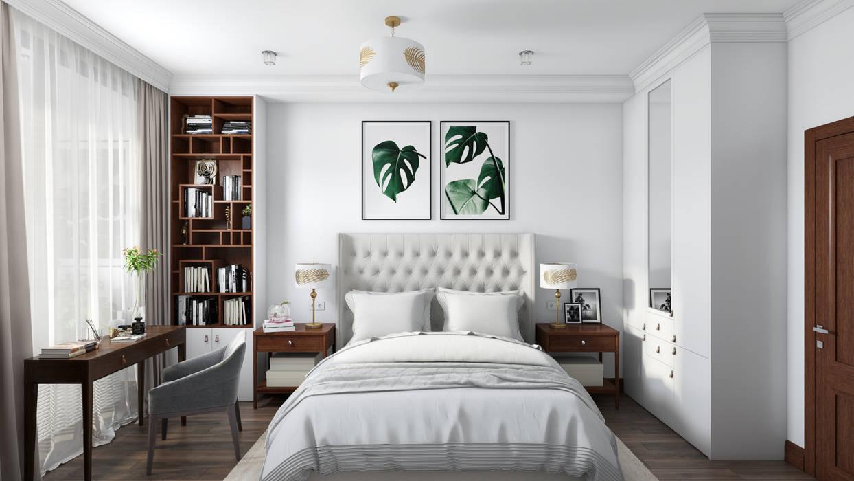 Винный дом: Спальни в . Автор – Наталья Преображенская | Студия 'Уютная Квартира'