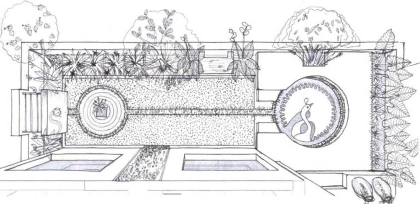The Nili Bagh by Baghorama Landscape Architects Rustic Ceramic