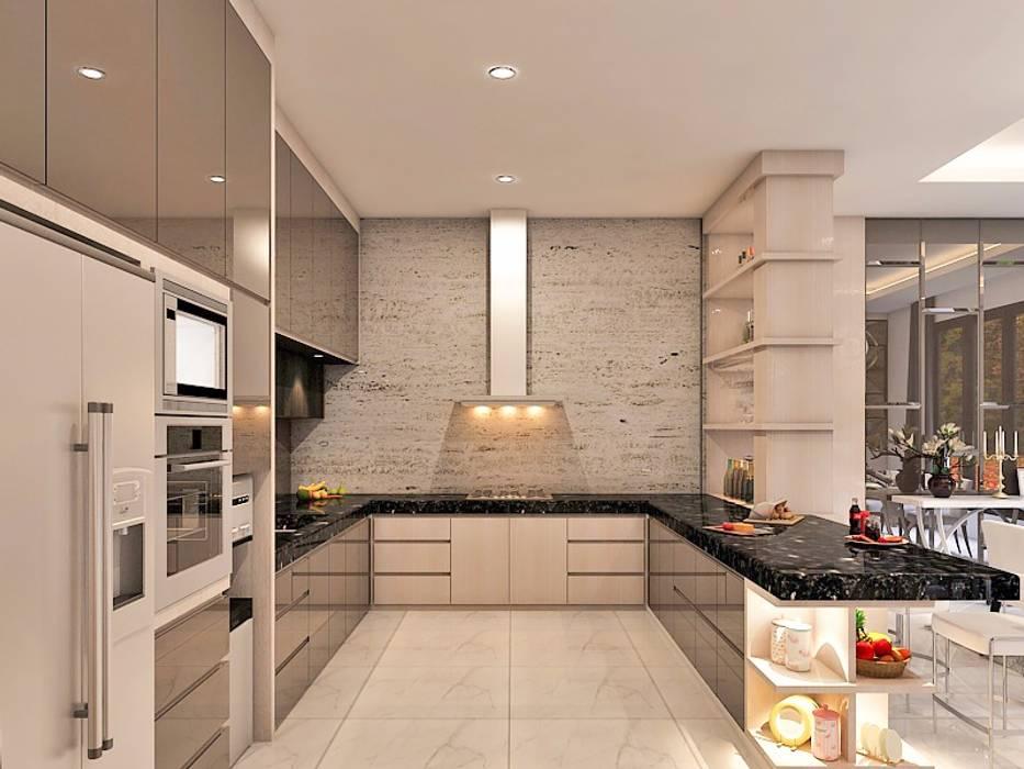 M House CEMARA KUTA: Dapur oleh Lighthouse Architect Indonesia, Modern