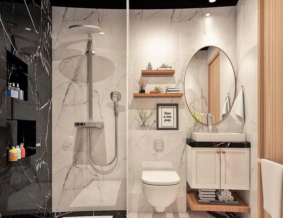 Phòng tắm phong cách thực dân bởi Lighthouse Architect Indonesia Thực dân