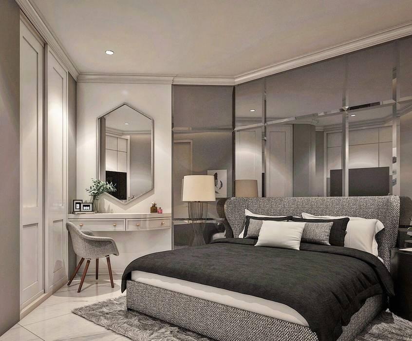 Apartemen City View Mr.H: Kamar Tidur oleh Lighthouse Architect Indonesia, Kolonial