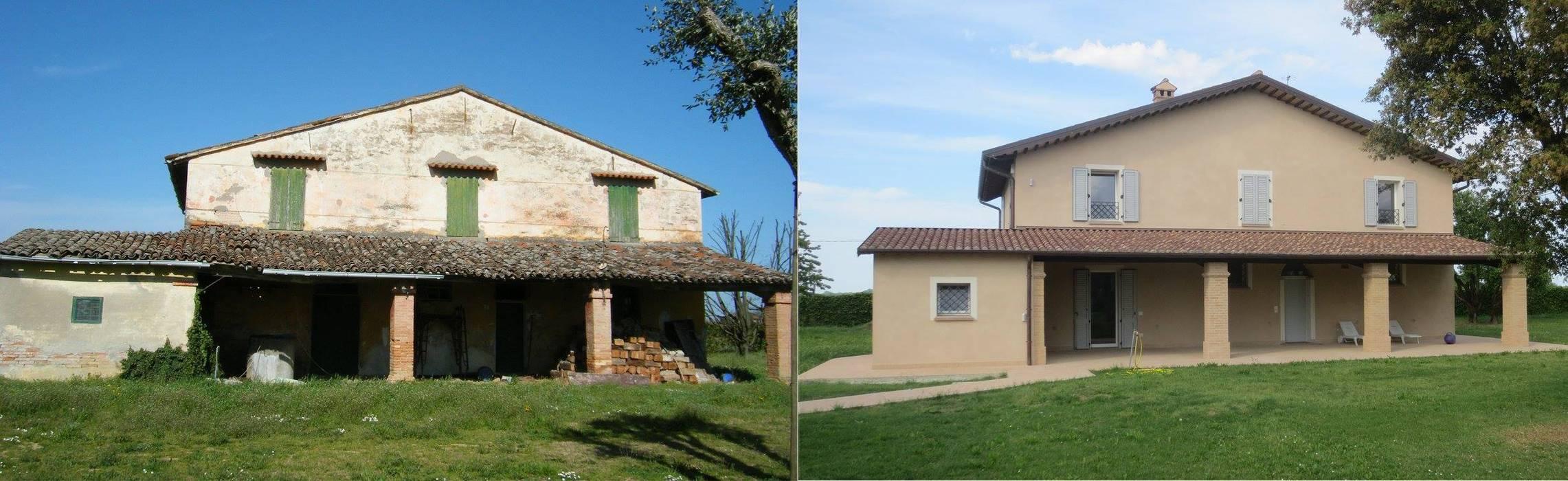 Prima e dopo.: Case in stile  di Studio tecnico Salvetti, Rurale