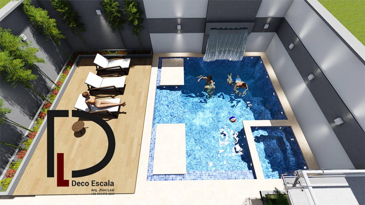 VISTA EN PLANTA : Terrazas de estilo  por DECOESCALA ARQ JHON LEAL,