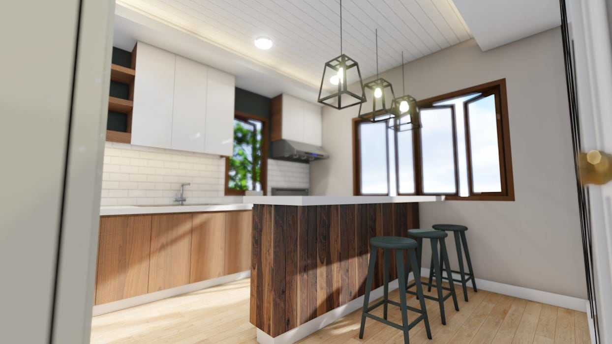 3-Storey Residence, Taguig:  Built-in kitchens by Structura Architects