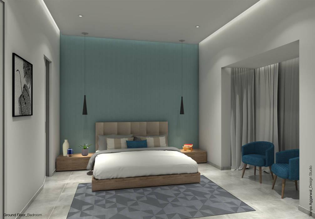 BedRoom Interiors :  Bedroom by VA design studio