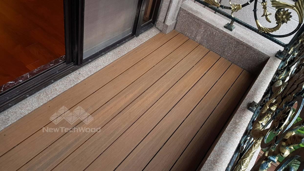 Balcón de estilo  por 新綠境實業有限公司, Asiático Compuestos de madera y plástico