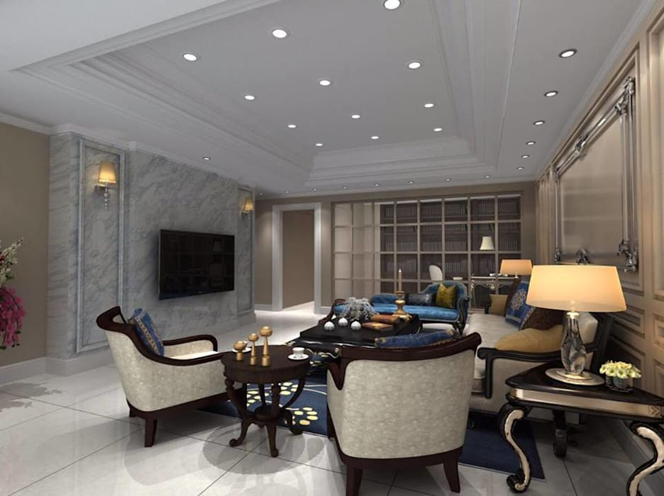 客廳設計 Classic style living room by 麥斯迪設計 Classic Marble