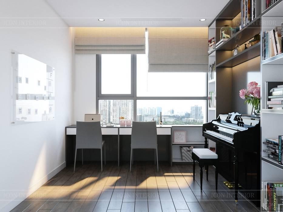 Thiết kế nội thất hiện đại tại căn hộ Landmark 4 Vinhomes Central Park Phòng giải trí phong cách hiện đại bởi ICON INTERIOR Hiện đại