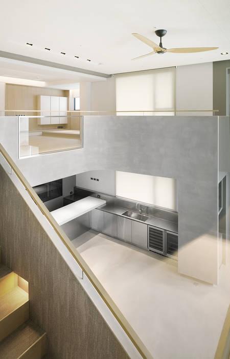 ShinTien Residence 新店住宅 現代廚房設計點子、靈感&圖片 根據 何侯設計 Ho + Hou Studio Architects 現代風