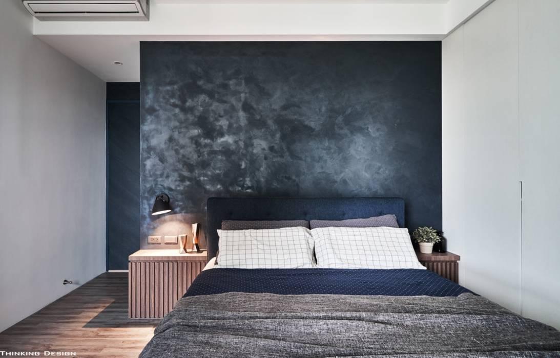 Спальня в стиле минимализм от 思維空間設計 Минимализм