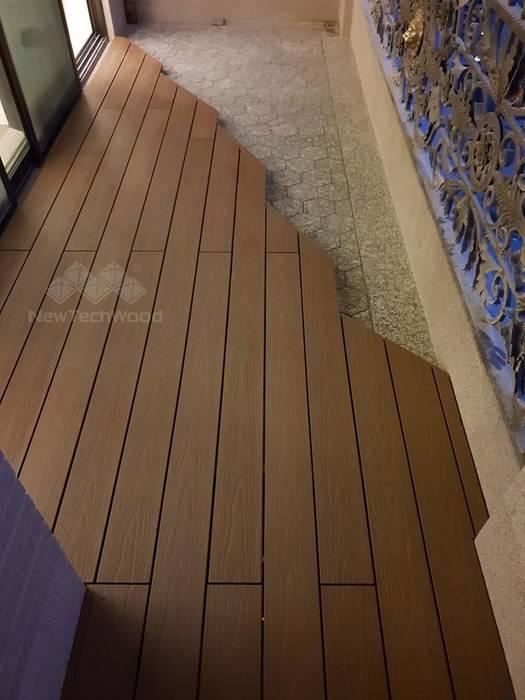 台中七期─特殊造形陽台木地板 根據 新綠境實業有限公司 日式風、東方風 塑木複合材料