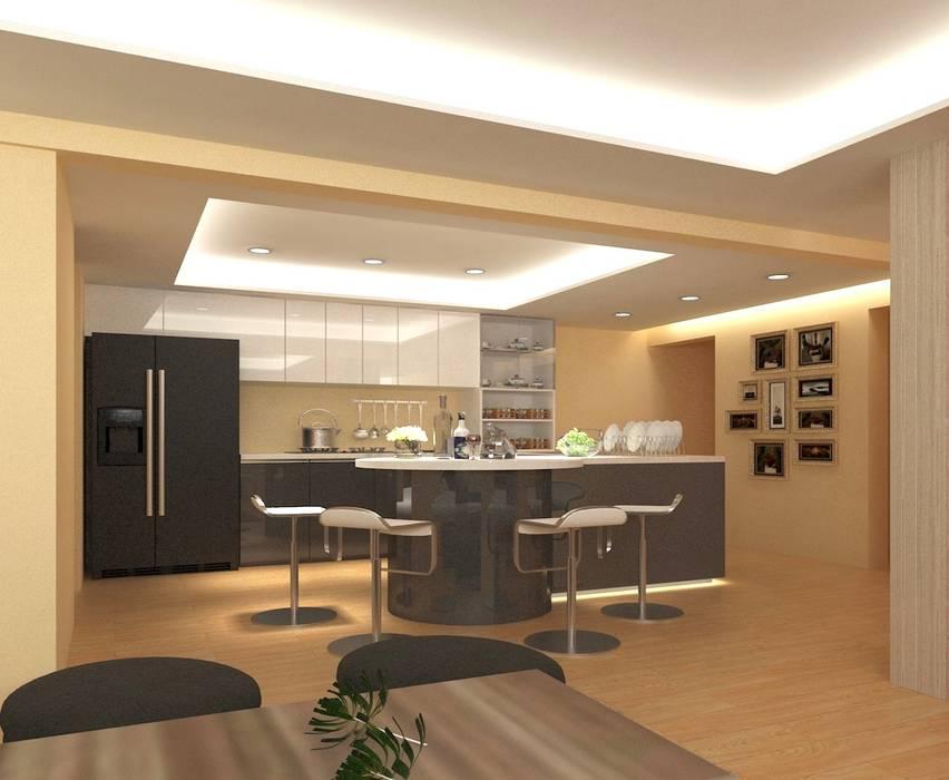 麥斯迪設計 Muebles de cocinas Compuestos de madera y plástico Amarillo
