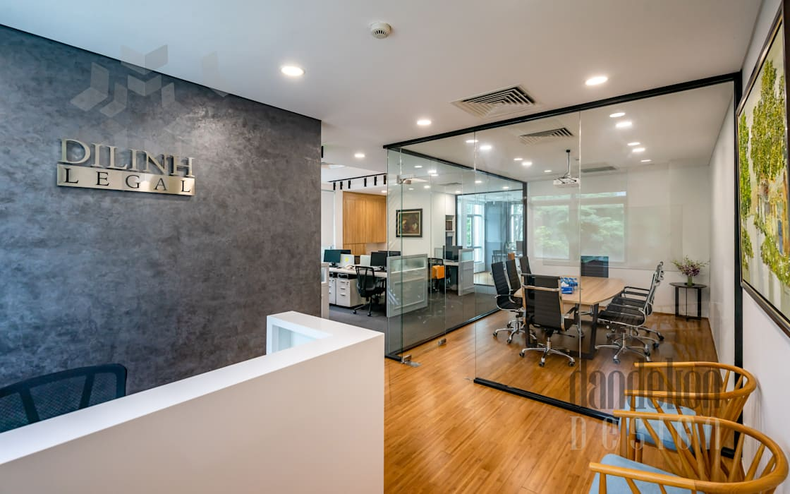 Thiết kế thi công nội thất văn phòng (V2):  Văn phòng & cửa hàng by Dandelion Design Construction
