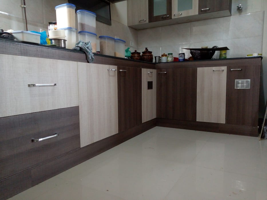MODULAR KITCHEN:  Kitchen by TI CONSTRUCTION AND INTERIORS