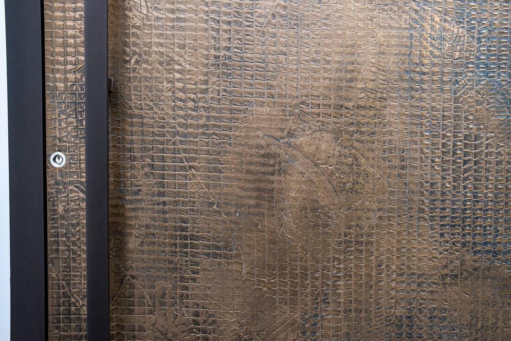 TEXTURED BRONZE FINISH :  Doors by RK Door Systems, Modern