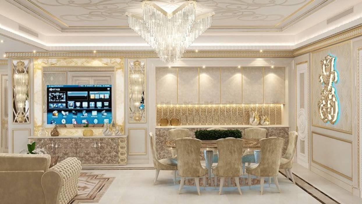كاسل للإستشارات الهندسية وأعمال الديكور والتشطيبات العامة Living roomFireplaces & accessories Sandstone White