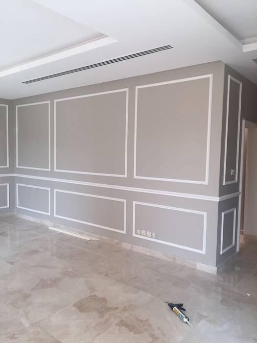 كاسل للإستشارات الهندسية وأعمال الديكور والتشطيبات العامة Living roomFireplaces & accessories Paper Grey