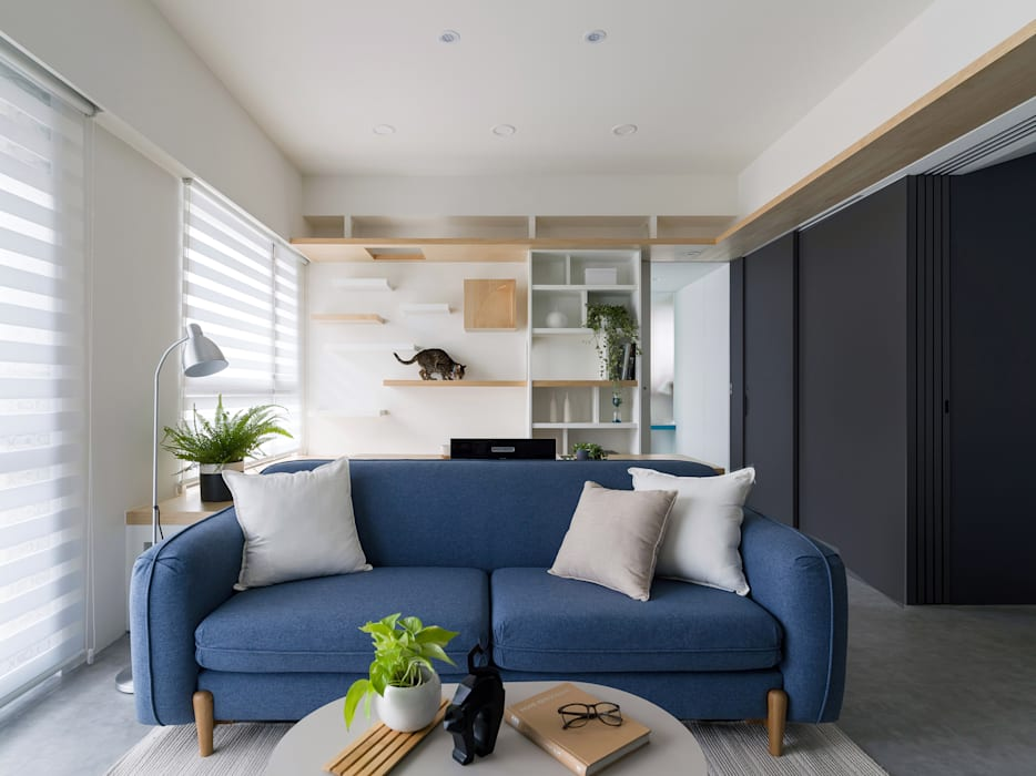 Salon de style  par 寓子設計, Scandinave